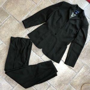 Ann Taylor Dark Gray/Brown Pant Suit
